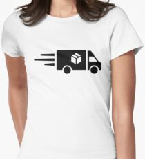 Express parcel truck Womens Fitted T-Shirt