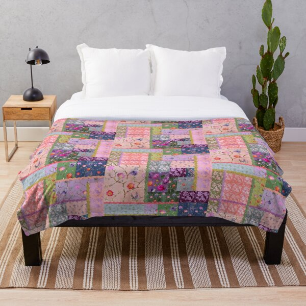 Spring Dreaming Patchwork Throw Blanket