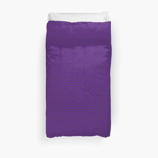 Purple Geometric Flowers Duvet Cover