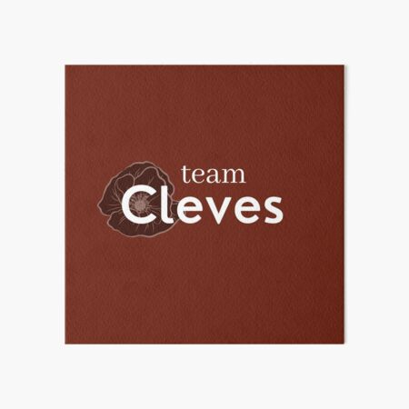 Team Anne of Cleves Six Wives Tudor Queen slogan  Art Board Print
