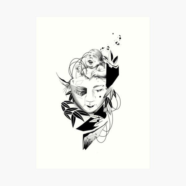 Android Geisha III Art Print