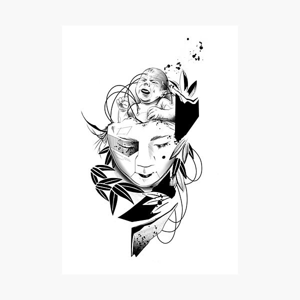 Android Geisha III Photographic Print
