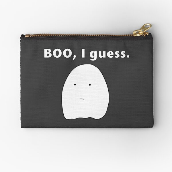 Sad Ghost Zipper Pouch