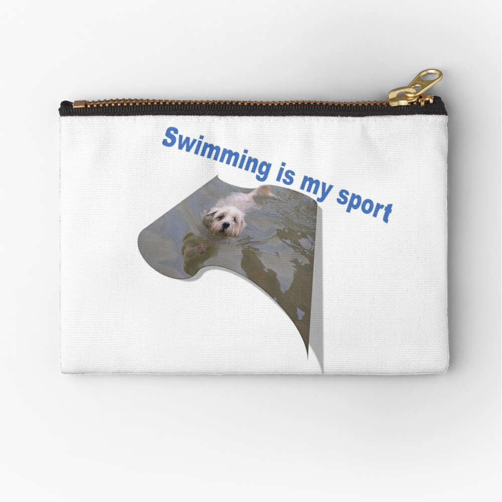 Swimming is my sport Dog Zipper Pouch