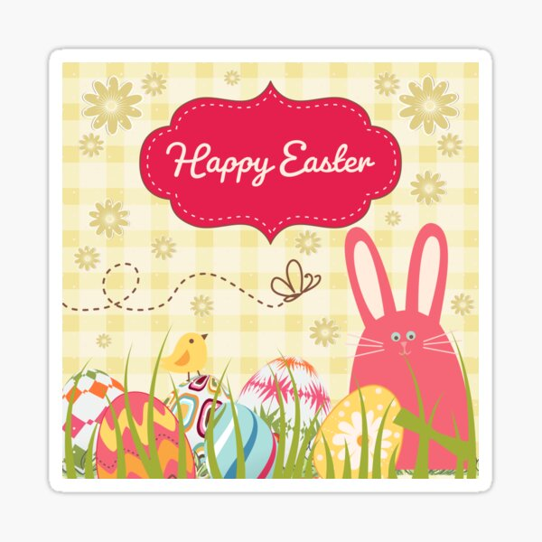 Happy Easter Christian Easter 2021 Sticker