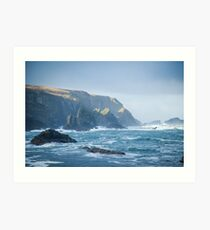 Cliffs at Port, Glencolmcille Art Print