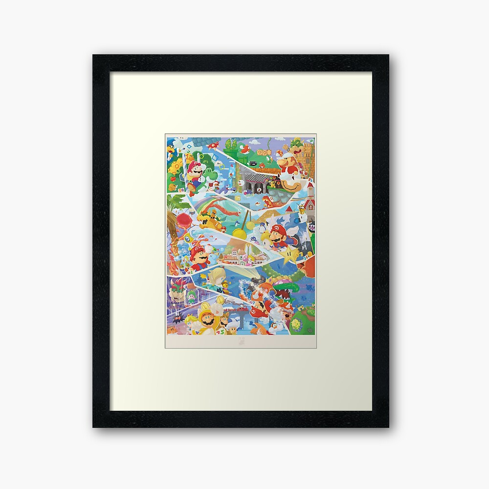 30 years of Mario  Framed Art Print