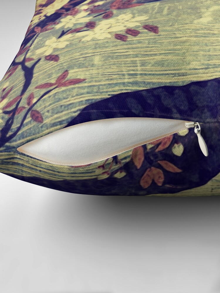 Alternate view of Templing at Hanuii Throw Pillow