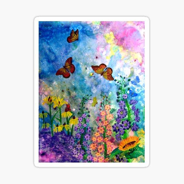 Butterfly Garden (rectangle) Sticker