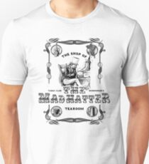 The Mad Hatter, the hatter, le chapelier fou, Alice in Wonderland, printmaking, T-Shirt