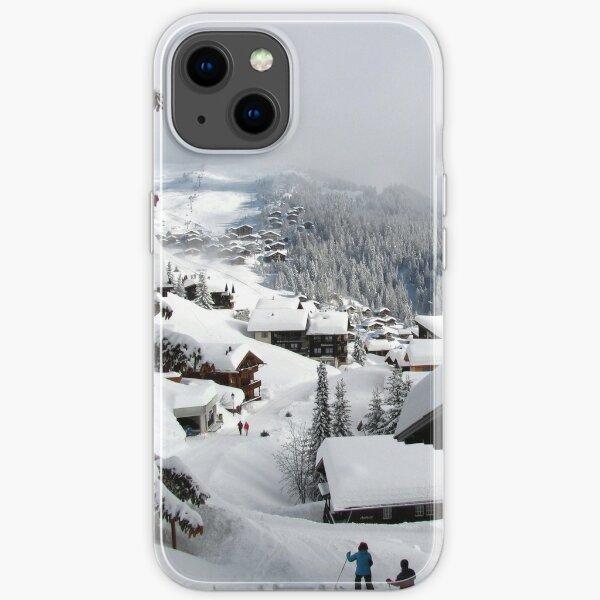 Swiss mountain village Bettmeralp winter iPhone Soft Case