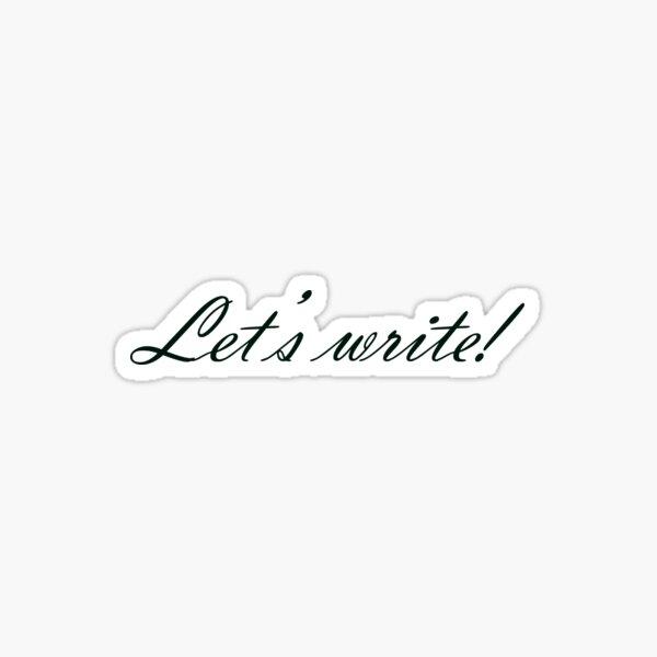 Let's write! Sticker