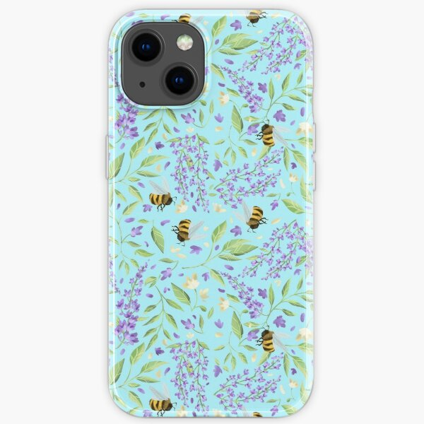 Bees and Wisteria iPhone Soft Case