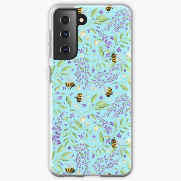 Bees and Wisteria Samsung Galaxy Soft Case