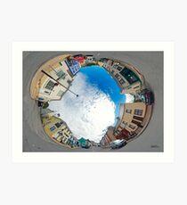 Kilcar Crossroads - Sky in Art Print