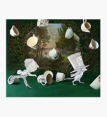 Mad Tea Party: The aftermath Photographic Print