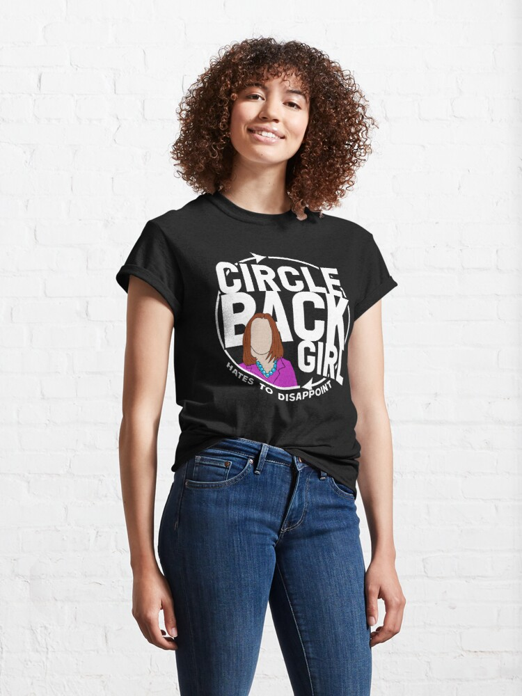 Alternate view of Circle Back White House Girl WTFBrahh Classic T-Shirt