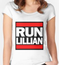 Unbreakable Kimmy Schmidt Inspired Rap Mashup - RUN Lillian - UKS Shirt - Females are Strong as Hell Parody Shirt Women's Fitted Scoop T-Shirt