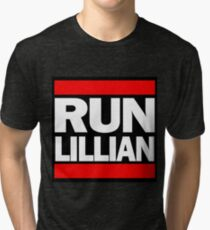 Unbreakable Kimmy Schmidt Inspired Rap Mashup - RUN Lillian - UKS Shirt - Females are Strong as Hell Parody Shirt Tri-blend T-Shirt