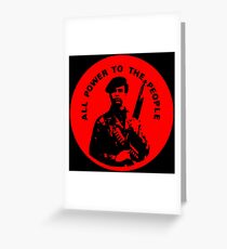 Black panther party greeting cards redbubble all power to the people greeting card m4hsunfo
