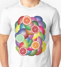 Abstract pattern with multicolor citrus fruits T-Shirt