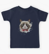 Cat with bow tie Kids Tee