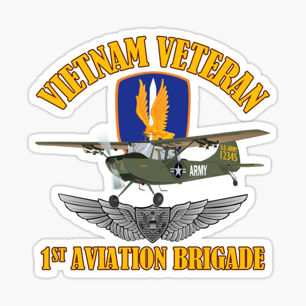 Vietnam - 1st Aviation Brigade - O-1 Bird Dog Sticker