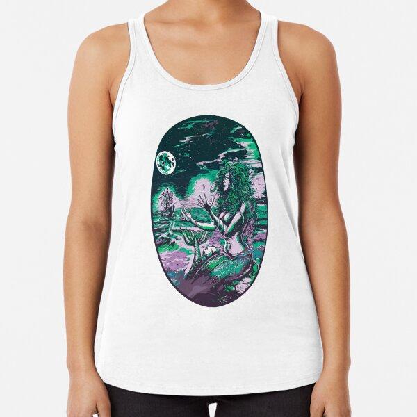 Mermaid Siren Sea Pearl Atlantis Racerback Tank Top