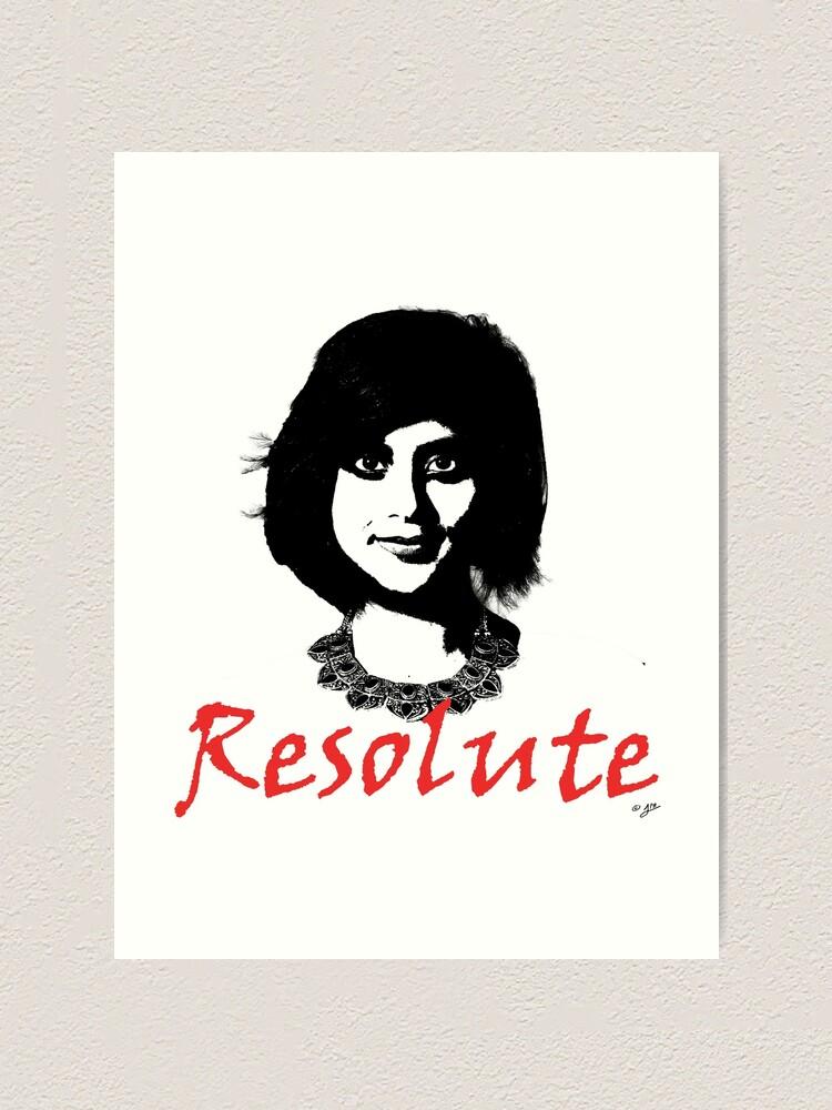 Alternate view of Resolute - Loujain al-Hathloul Art Print