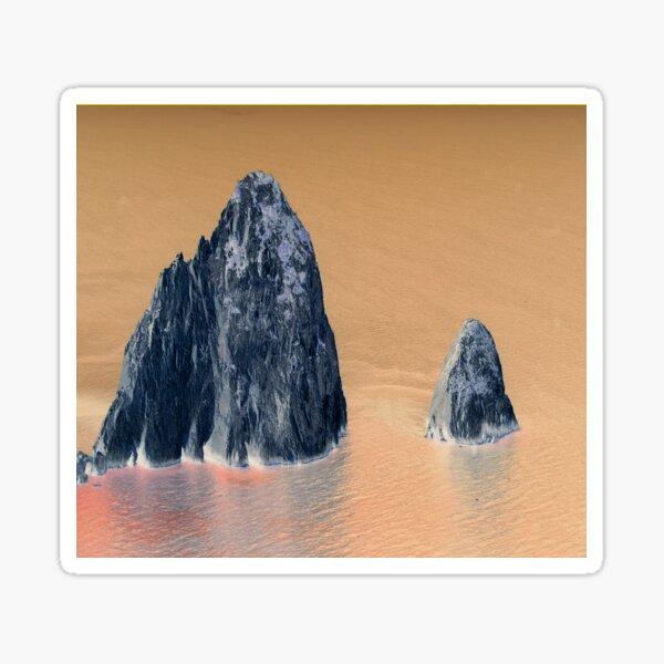 Felsen im Meer abstrahiert Sticker