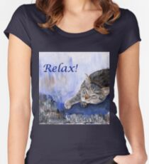 Relax! Women's Fitted Scoop T-Shirt