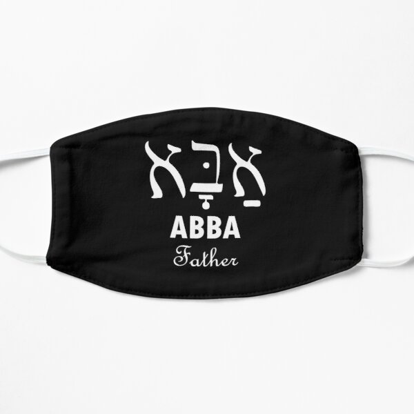 Hebrew letters Abba Father name of God Flat Mask
