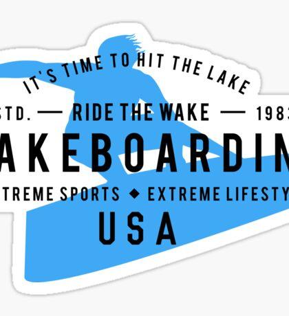 Ride The Wake Wakeboarding Sticker