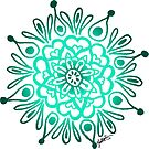 Turquoise Mandala Design by julieerindesign