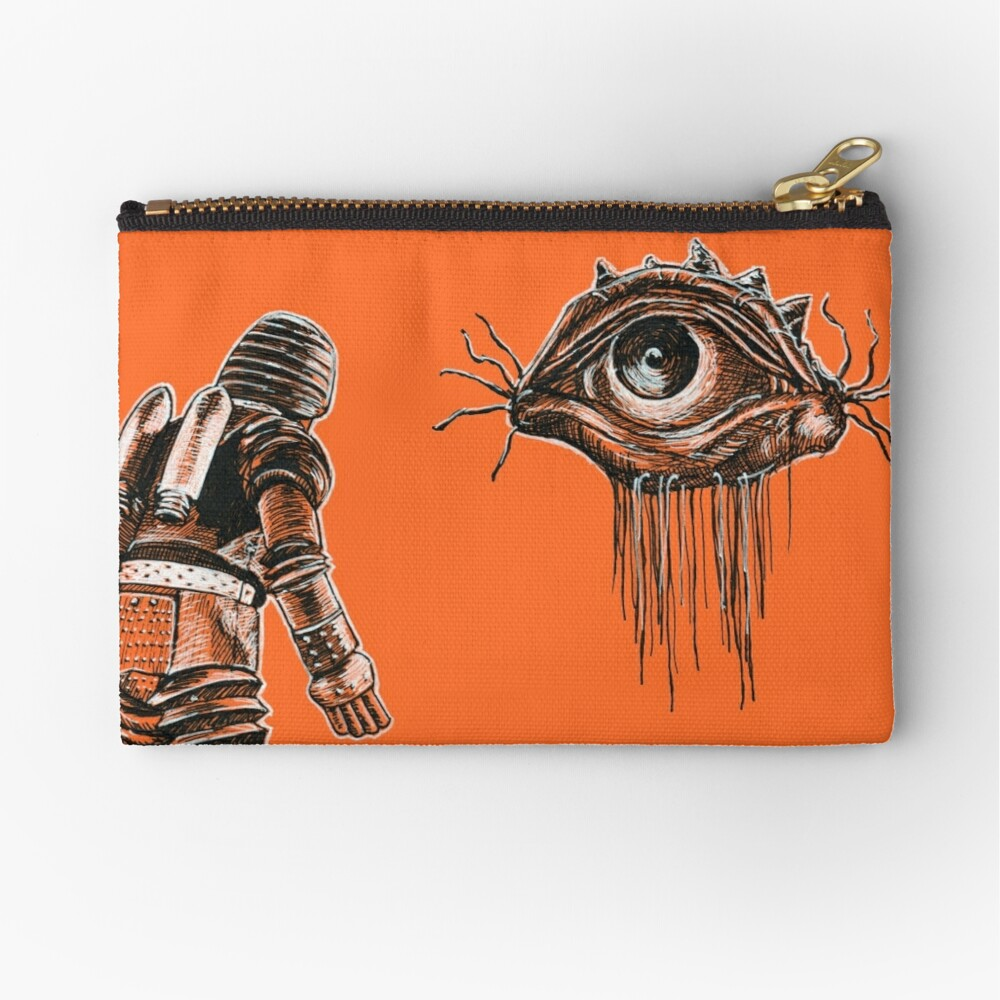 Retro Alien Encounter Zipper Pouch