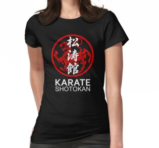 Attractive Shotokan Karate Symbol and Kanji White Text