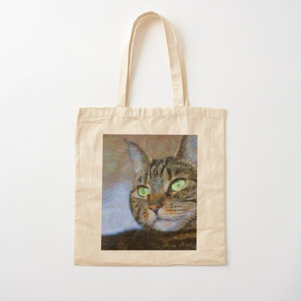 Tabby Cat Beauty Feline Art Cotton Tote Bag