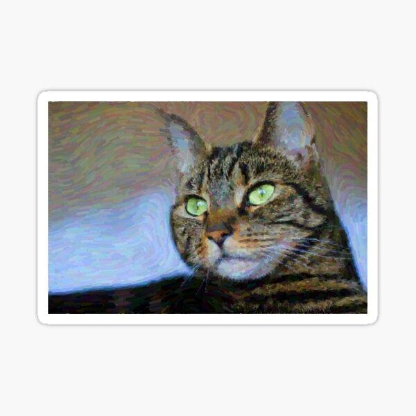 Tabby Cat Beauty Feline Art Sticker