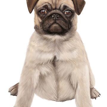 Pug Dog by KKartist
