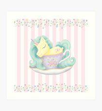 Tea With a Unicorn Art Print