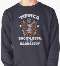 Merica Die Verfolgung von Bacon, Bier & Badassery. Sweatshirt