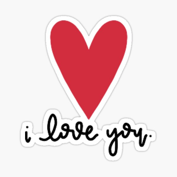 Cursive I Love You Sticker
