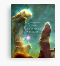 Hitchhiker's Guide Quote Metal Print