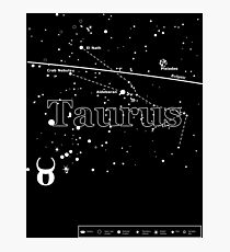 Taurus Star Chart Photographic Print