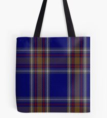 00465 Blue Rust Tartan  Tote Bag