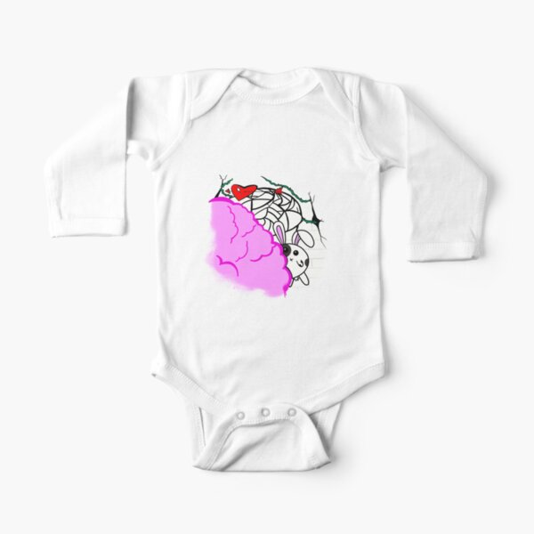 Cotton Candy Bunny World by Olivia's world Long Sleeve Baby One-Piece
