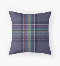 00468 Blue Toon District Tartan  Throw Pillow