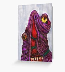 CREEPY MONSTER TWO Greeting Card