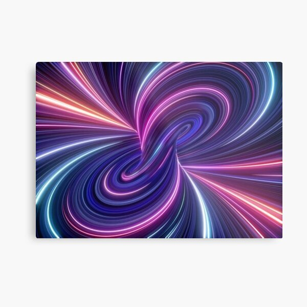Quantum Theory Proposes That Cause and Effect Can Go In Loops Metal Print