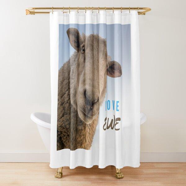 LOVE EWE ( you)  Shower Curtain